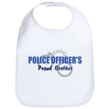 Proud Police Brother Bib