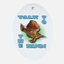 Bearded Dragon - Talk To The  Oval Ornament