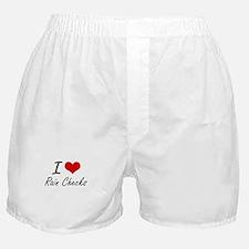 I Love Rain Checks Boxer Shorts