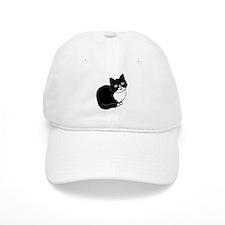 Tuxedo Cat Tuxie Baseball Baseball Cap