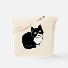 Tuxedo Cat Tuxie Tote Bag