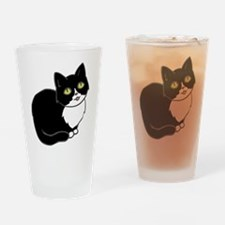 Tuxedo Cat Tuxie Drinking Glass