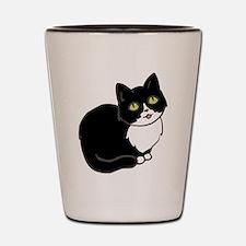 Tuxedo Cat Tuxie Shot Glass