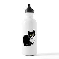 Tuxedo Cat Tuxie Water Bottle