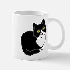 Tuxedo Cat Tuxie Mugs