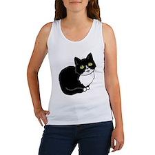 Tuxedo Cat Tuxie Tank Top