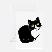 Tuxedo Cat Tuxie Greeting Cards