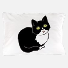 Tuxedo Cat Tuxie Pillow Case