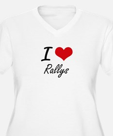 I Love Rallys Plus Size T-Shirt