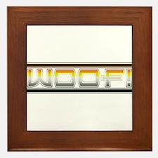 BEAR PRIDE WOOF Framed Tile