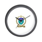 FUSELIER Family Crest Wall Clock