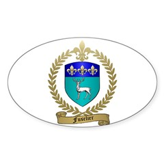 FUSELIER Family Crest Oval Decal