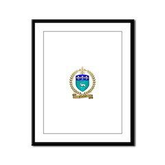 FUSELIER Family Crest Framed Panel Print
