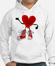Funny Heart and Sneakers Hoodie