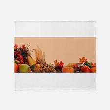 Cornucopia For Thanksgiving Throw Blanket