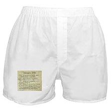 January 24th Boxer Shorts