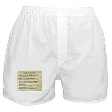 October 7th Boxer Shorts