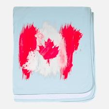 Canada Flag Canadian baby blanket