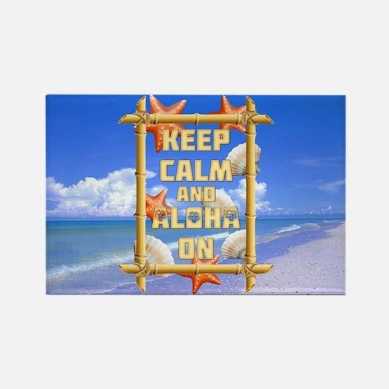Keep Calm And Aloha On Magnets