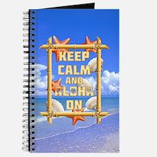 Keep Calm And Aloha On Journal