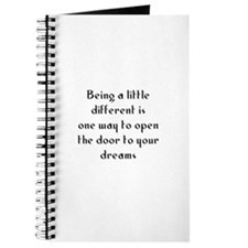 Being a little different is o Journal