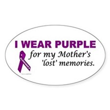 My Mother's Lost Memories Oval Decal