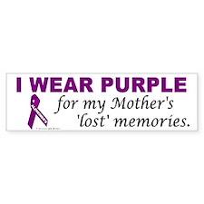 My Mother's Lost Memories Bumper Bumper Sticker