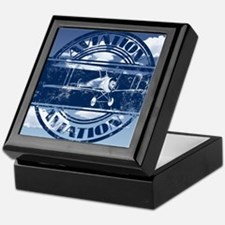 Retro Aviation Art Keepsake Box