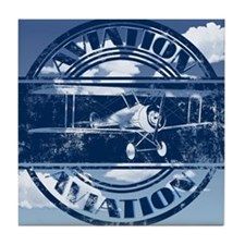 Retro Aviation Art Tile Coaster
