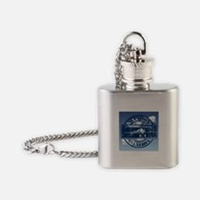 Retro Aviation Art Flask Necklace