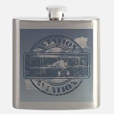 Retro Aviation Art Flask