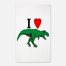 T Rex Green Area Rug