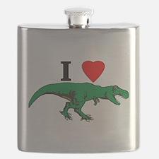 T Rex Green Flask