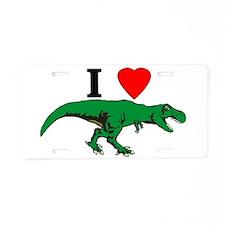 T Rex Green Aluminum License Plate