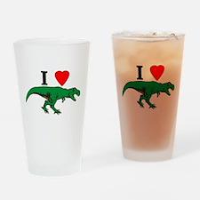 T Rex Green Drinking Glass