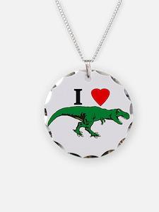 T Rex Green Necklace