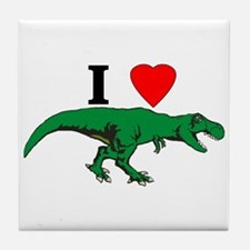 T Rex Green Tile Coaster