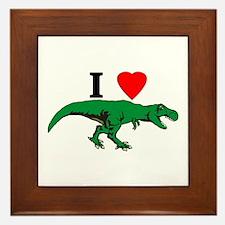 T Rex Green Framed Tile