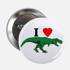 "T Rex Green 2.25"" Button"