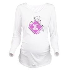 Cute Baby on board Long Sleeve Maternity T-Shirt