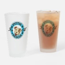 It's A Pittie Rescue Drinking Glass
