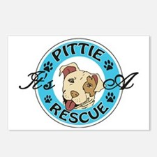 It's A Pittie Rescue Postcards (Package of 8)