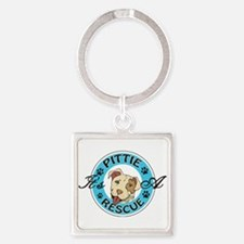 It's A Pittie Rescue Keychains