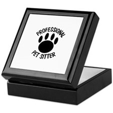 Professional Pet Sitter Paw Print Keepsake Box