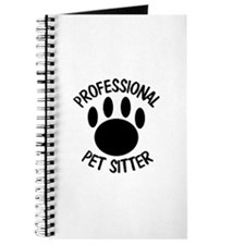 Professional Pet Sitter Paw Print Journal