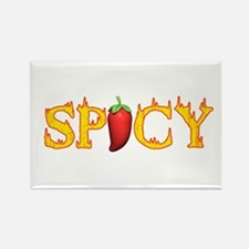 Spicy Hot Rectangle Magnet