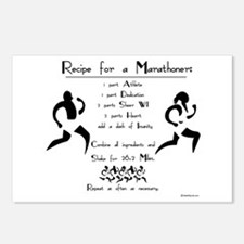 Recipe for a Marathoner Postcards (Package of 8)