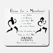 Recipe for a Marathoner Mousepad