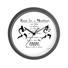Recipe for a Marathoner Wall Clock