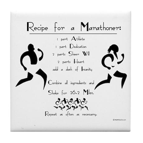 Recipe for a Marathoner Tile Coaster